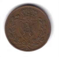Vittorio Emanuele II° Re Eletto 5 Centesimi 1826 Bologna Raro Bb+  TOP PRICE D.3796 - 1861-1946 : Royaume