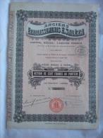 ANCIENS ETABLISSEMENTS E . SALEZA - ACTION DE 100 FRANCS AU PORTEUR - 12000 ACTIONS - - Actions & Titres
