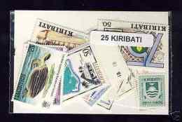 KIRIBATI Lot De 25 Timbres Tous Differents Neufs Et Oblitérés. Satisfaction Assurée - Kiribati (1979-...)