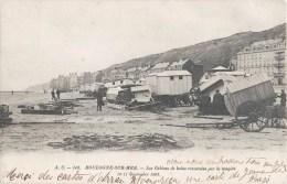 BOULOGNE-SUR-MER LES CABINES DE BAINS RENVERSEES PAR LA TEMPETE 1900 - Boulogne Sur Mer