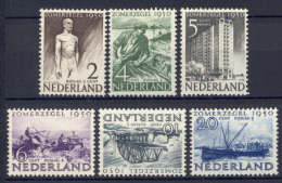 Olanda 1950 Unif. 535/40 **/*/MNH/MH VF - Period 1949-1980 (Juliana)