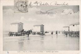 BOULOGNE-SUR-MER CABINES DE BAINS 1900 - Boulogne Sur Mer