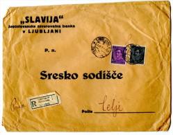 Slovenia - Registered Letter Cover Travelled From Ljubljana To Celje 1933 - Slovenia