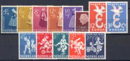 Olanda 1958 Annata Completa / Complete Year **/MNH VF - Period 1949-1980 (Juliana)