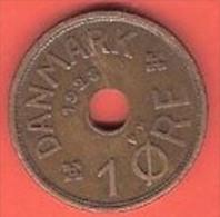 DENMARK # 1 ØRE  BRONZE FROM YEAR 1928 - Danemark