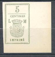TAXE OFFICE LORIN-MAURY N� 4 ( r�imprim�s ) NEUF(*)