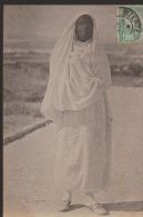 CPA:Femme Arabe:Costume De VIlle:Cachet Bizerte - Tunisie