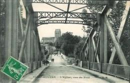 95 AUVERS  L'Eglise , Vue Du Pont - Auvers Sur Oise