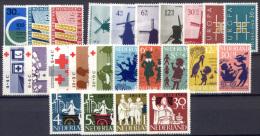 Olanda 1963 Annata Completa / Complete Year **/MNH VF - Period 1949-1980 (Juliana)