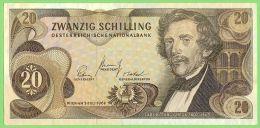 AUSTRIA 20 Schilling 1967 Crisp XF Pick #142 - Oostenrijk