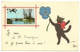 SAINT FRAIGNE Fantaisie Chat Illustrateur René (JP) Charente (16) - Andere Gemeenten