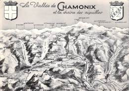 [74] Haute Savoie > Chamonix-Mont-Blanc La VALLEE DE CHAMONIX Et La Chaîne Des Aiguilles (année 1964)*PRIX FIXE - Chamonix-Mont-Blanc
