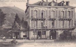 Cp , 65 , LOURDES , Grand Hôtel Beau-Séjour ( Départ De Tramway Toutes Les Minutes) - Lourdes
