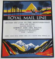 1927, Original Press Advert For ROYAL MAIL LINE, Mediterranean, Norway & The Baltic Cruises - Boats