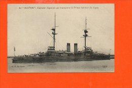 """Le """"KATORI"""" , Cuirassé Japonais Qui Transporte Le Prince Héritier Du Japon - Guerre"""