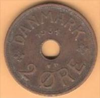 DENMARK # 2 ØRE  BRONZE FROM YEAR 1934 - Denmark