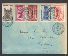 FRANCE 1945 N° 663 à 667 Obl. S/lettre - France