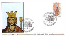 Fdc Filagrano Italia: FEDERICO II (1994); No Viaggiata; AF_Catania - 6. 1946-.. Repubblica