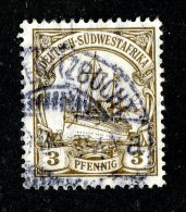 (1938)  SW Africa 1907  Mi.24  (o)    Catalogue  € 4.50 - Colony: German South West Africa