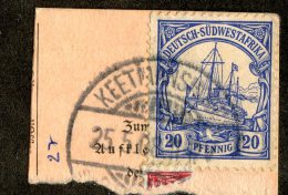 (1941)  SW Africa 1906  Mi.27  (o)    Catalogue  € 4.50 - Colony: German South West Africa