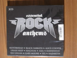 MUSIQUE CD - COMPILATION 29 TITRES - ESSENTIAL ROCK ANTHEMS - MOTÖRHEAD/HAWKWIND/ETC... - NEUF SOUS CELLOPHANE - Hard Rock & Metal