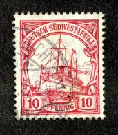 (1951)  SW Africa 1906  Mi.26a  (o)    Catalogue  € 1.80 - Colony: German South West Africa