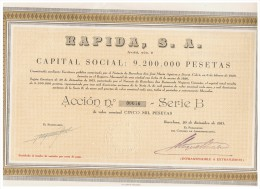 ACCION ANTIGUA - ACTION ANTIQUE = Rapida SA 1951 - Acciones & Títulos
