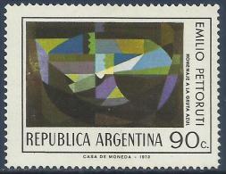 "ARGENTINA - ARGENTINE PAINTERS: ""THE BLUE GROTTO"", BY EMILIO PETTORUTI 1974 - MNH - Arte"