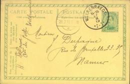 Entier 5 Ct Welkenraedt II.19 Naar Namur ( Fortune ). - Weltkrieg 1914-18