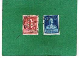 ITALIA REPUBBLICA  -  UNIF. 611.612 - 1949 PILA ELETTRICA DI ALESSANDRO VOLTA   - USATI° (USED) - 1946-60: Gebraucht