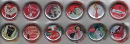 Lote 650, Colombia, 2011, Folder Con 12 Tapas De Coca Cola 150 Años, Coke Cap Crown, Chapas, Tappi - Soda