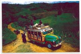 "COLOMBIE - CARTE POSTALE ""SILVIA, CAUCA - TRANSPORTE TIPICO , CHIVA"" - Bus & Autocars"