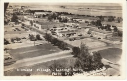 Richland WA Washington, Village Aerial Scene, C1940s Vintage Johnson Real Photo Postcard - Otros