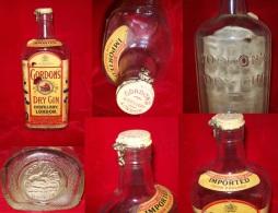 Ancienne Bouteille Gordon´s Dry Gin,  Vtg. Gordon´s & Co. Dry Gin Glass Bottle Very Rare 1900´s - Whisky