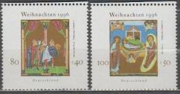Germany BRD 1996 Christmas Art Miniatures Michel 1891-1892 MNH (**). - [7] Repubblica Federale