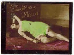 "CHROMO EROTIQUE FEMMES ARTISTE PIN UP Cigarettes MELIA Illustrateur Wyndham  : "" HURET "" - Melia"