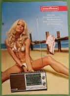 Advertising Brochure, Prospectus, NORDMENDE, Fernseher, Radio, Germany, 1970. - Pubblicitari