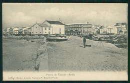 POVOA DO VARZIM / PORTO / PORTUGAL. Postal Da Praia Barcos, Animado. Fotografo  Máquina Fotográfica - Porto