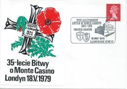 1979. 35th. ANNIVERSARY  OF THE BATTLE OF MONTE  CASSINO  1944--1979 - 1939-44: 2ª Guerra Mundial
