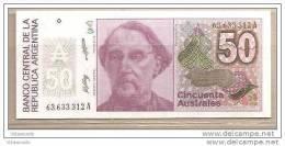 Argentina - Banconota Non Circolata Da 50 Australes P-326b.2 - 1989 - Argentina