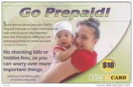 Micronesia, FSM-R-009, $10, Go Prepaid, 2 Scans. - Micronesia