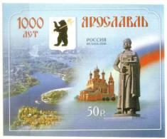 RUSSIA - RUSSIE : 10-09-2010 : (MNH) Bloc : 1000 Year Yaroslavi - 1992-.... Fédération