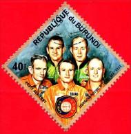 "Nuovo - BURUNDI - 1975 - Spazio - Progetto Spaziale ""Apollo–Soyuz"" - Slayton, Brand, Stafford, Leonov, Kubasov - 40 F - Burundi"