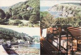 Promotion Multiview Print Lee Manor Hotel Ilfracombe Devon Postcard Size - Géographie