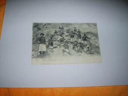 CARTE POSTALE CIRCULEE DATE 1906 / 480. CHASSEURS ALPINS AU REPOS. - L.L. / CACHET + TIMBRE TYPE SAGE 5C. - Francia
