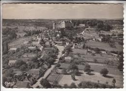 HAUTEFORT 24 - Vue Panoramique Aérienne - CPSM Dentelée GF (1951) - Dordogne - Frankreich