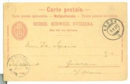 HANDGESCHREVEN BRIEFKAART Uit 1897 Van AROSA SWITSERLAND Naar GRIESHEIM Am MAIN DEUTSCHLAND  (7863i) - 1882-1906 Coat Of Arms, Standing Helvetia & UPU