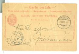 HANDGESCHREVEN BRIEFKAART Uit 1896 Van PONTRESINA SWITSERLAND Naar GRIESHEIM Am MAIN DEUTSCHLAND  (7863j) - 1882-1906 Coat Of Arms, Standing Helvetia & UPU