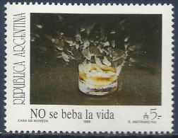 ARGENTINA - PREVENT ALCOHOLISM 1989 - MNH - Other