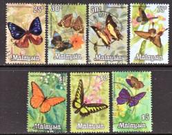 Malaysia  66-72  (o)  FAUNA  BUTTERFLIES - Malaysia (1964-...)